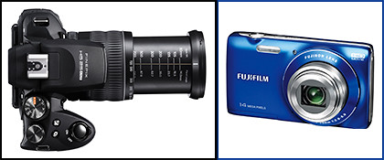 Fujifilm has a range of FinePix cameras ranging from the light and compact JZ100 to the superzoom HS25EXR.