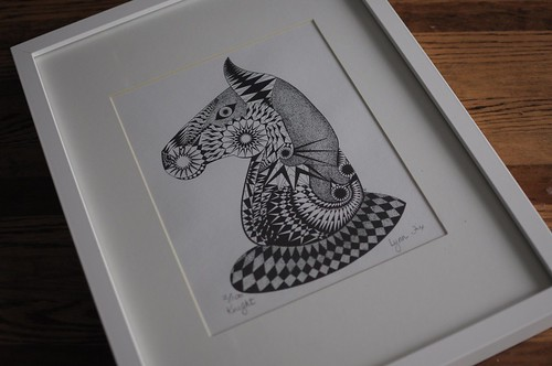 hand drawn chess piece