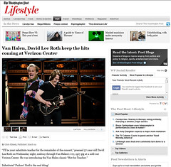Wash Post Van Halen Web Tear Sheet