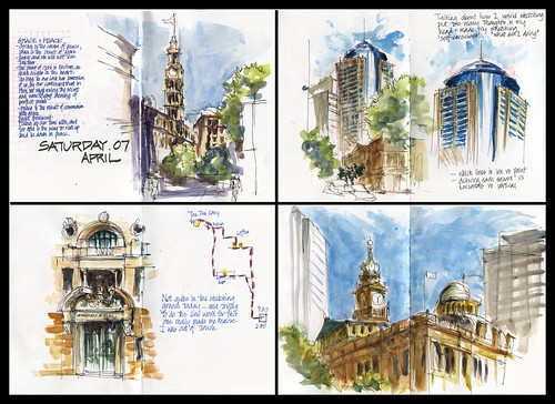 120407 Sketching in Town