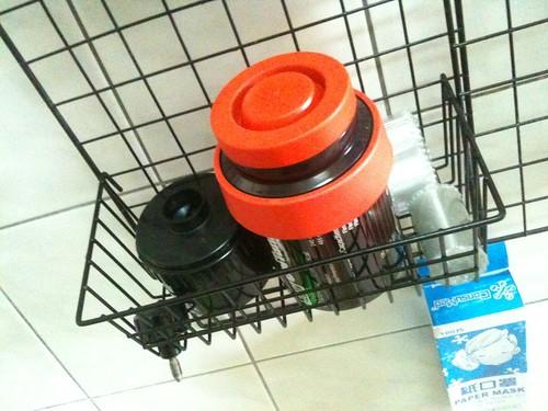 沖片罐放置區