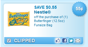 Butterfinger (12.5oz) Funsize Bag  Coupon