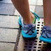 April 16, 2012 - Colorful sneakers are de rigueur at the 116TH Boston Marathon. (Sarah Mongeau-Birkett / BU News Service)