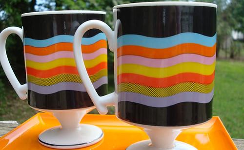 Vintage Pedestal Mugs