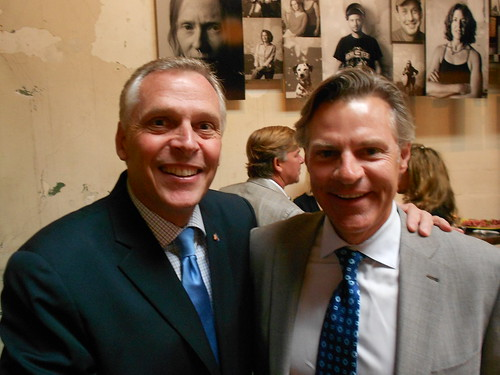 Terry McAuliffe and Jimmy Reyes at Comet Ping Pong for Detroit: 138 Square Miles Book Launch Party