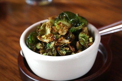 Fried Brussel Sprouts with Thyme, Lemon & Chili Flakes