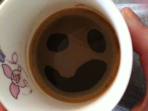Happy Face again! in my coffee :)