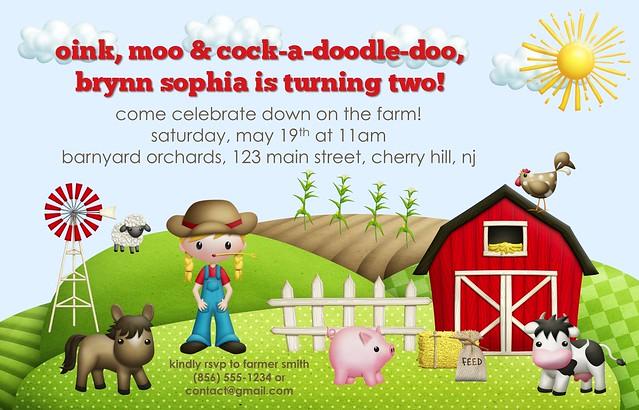Brynn's Farm Invite Blog