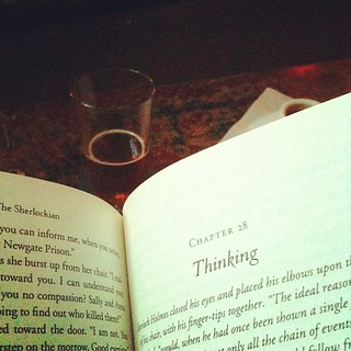 Happy hour?  Beer and a book...