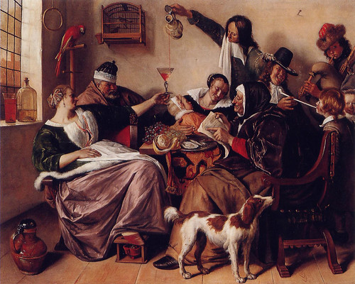 Jan Steen - As the Old Sing_ So Pipe the Young