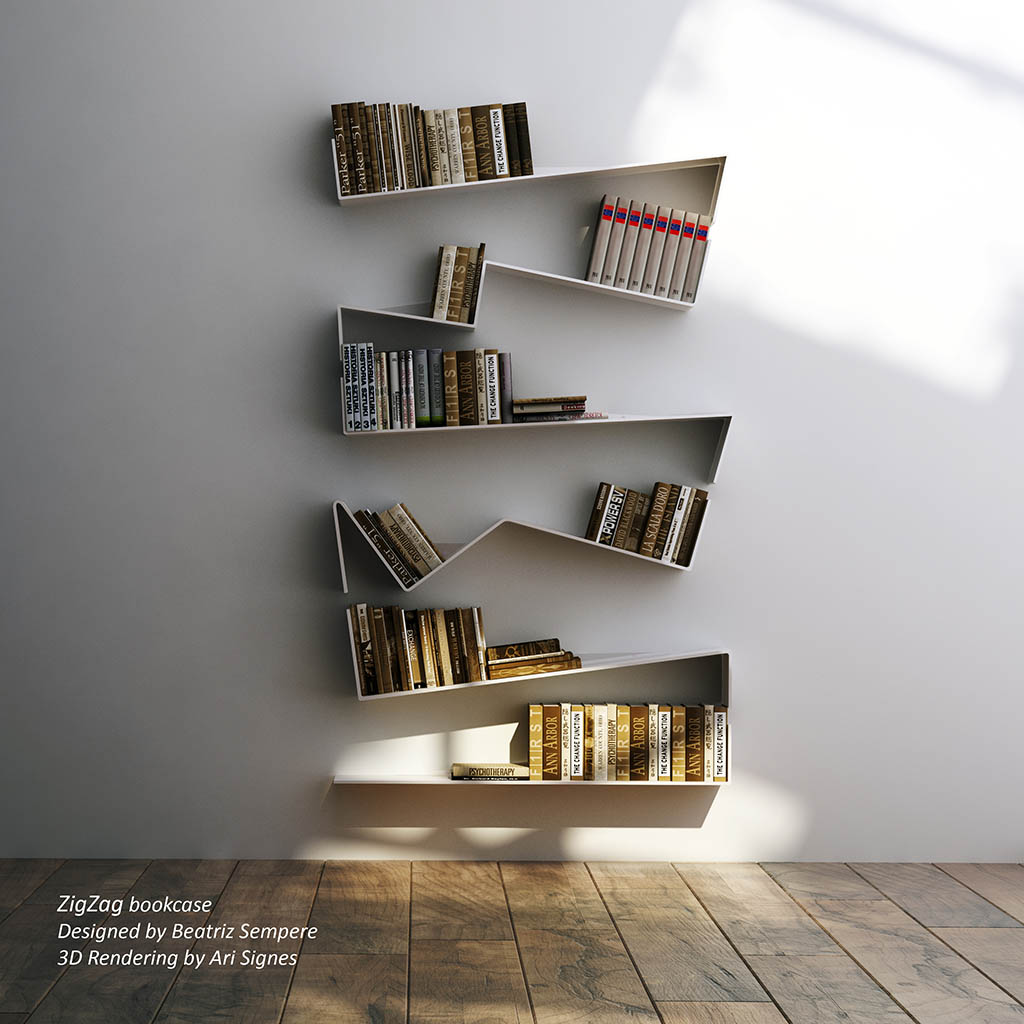Zig Zag Bookcase Designed By Beatriz Sempere