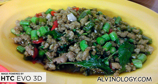Stir-fried pork with basil