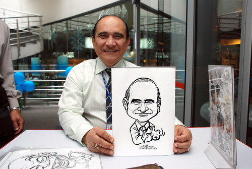 Caricature live sketching for Singapore Suntec City Annual Party - 23
