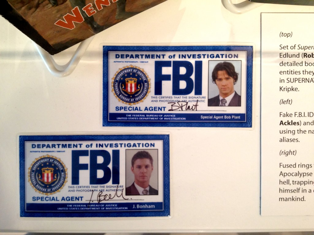 Supernatural FBI ID's
