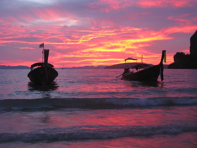 Sunset, Railay Beach