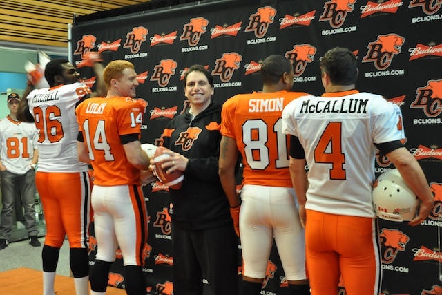 BC Lions New Jersey Launch