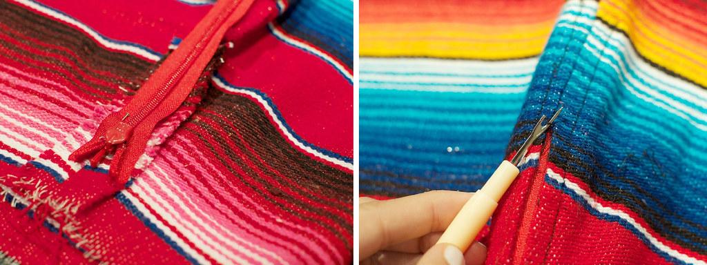 diy mexican rug skirt process4
