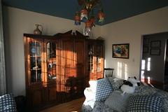 Le soleil du matin au salon bleu