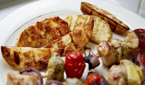grilled potato spears