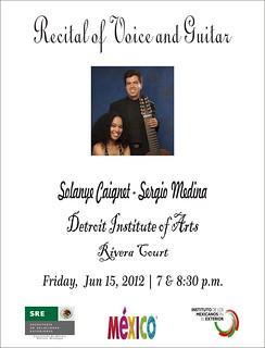 Recital de voz y guitarra con Solayne Caignet y Sergio Medina en Detroit