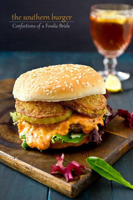 Pimento Cheese Burger With Fried Green Tomatoes Recipe