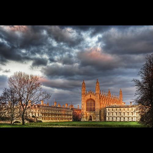 cambridge sunset hdr thebacks kingcollege