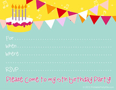 5th Birthday Invitation Template