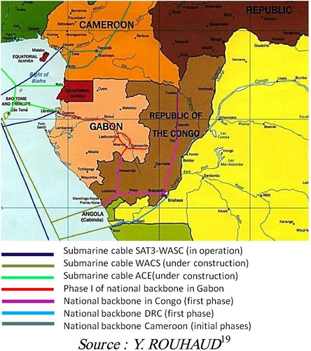 Gabon, Congo, DRC