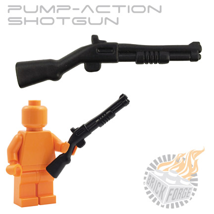 Pump-Action Shotgun - Black