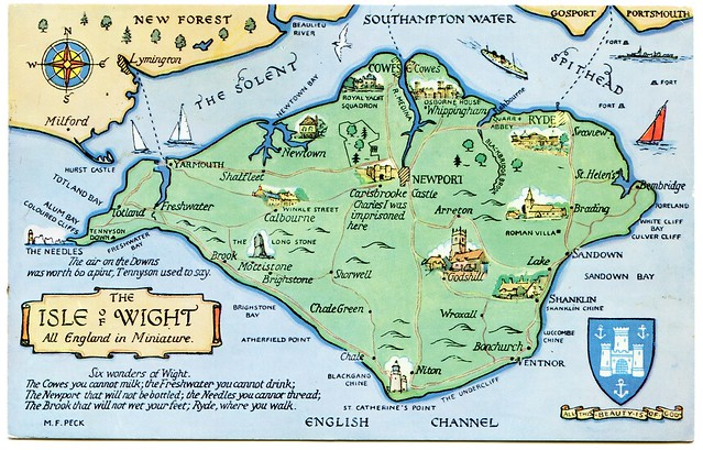Postcard map of the Isle of Wight | Flickr - Photo Sharing!