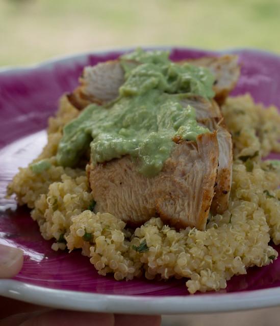 blackened chicken with cilantro lime quinoa (1 of 1)