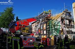 Dachstuhlbrand Kostheim 15.05.12