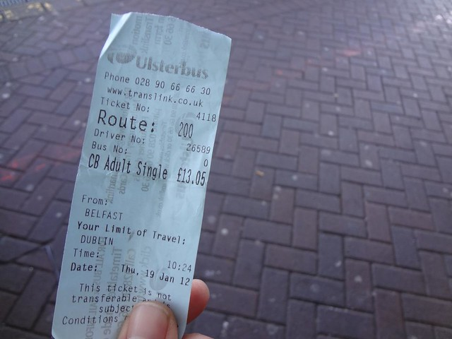 Autocarro desde Belfast até Dublin