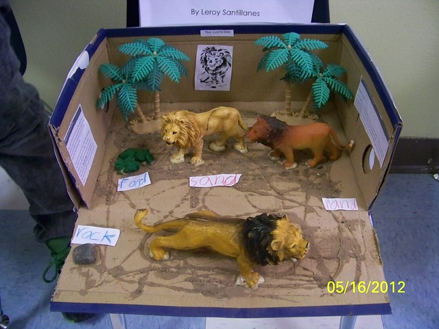 how to make a lion habitat diorama