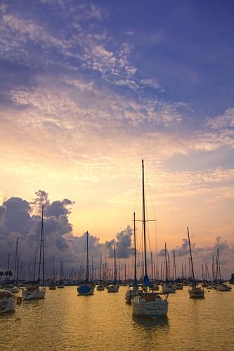 sunrise cloudy miami 305 sailingclub coconutgrove