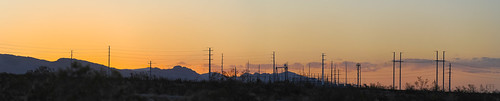 lasvegas nevada nikon d700 panorama stitched panoramic may 2012 sunset powerlines clarkcounty dusk 95 orange elkridge sky centennialhills