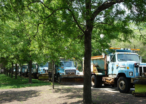 Salt trucks lined up for NATO in Chicago