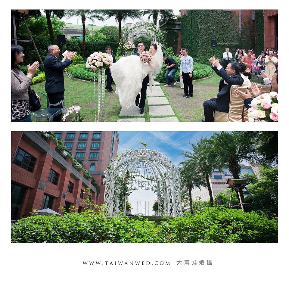 大青蛙婚攝於維多麗亞酒店 抱新娘