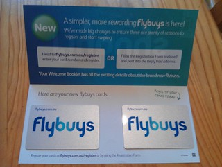 Flybuys cards, whether you wanted them or not