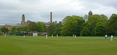 Cricket in Roberts Park, Saltaire by Tim Green aka atoach