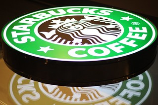 Starbucks light plate