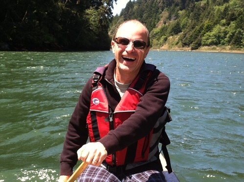 Eric's smile canoeing