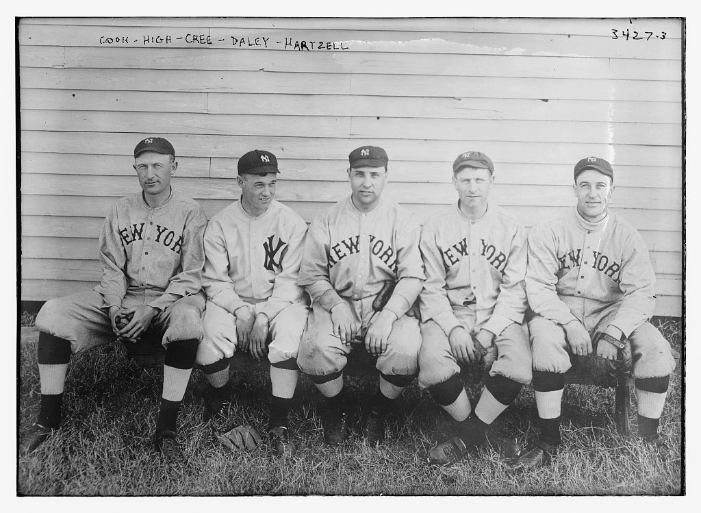[Doc Cook, Hugh High, Birdie Cree, Tim Daley, Roy Hartzell, New York AL (baseball)]  (LOC)