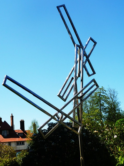 Wind Powered Moving Sculpture by George Rickey