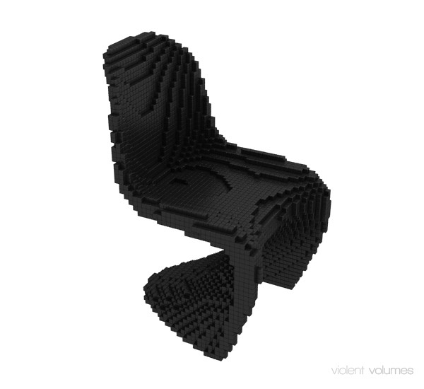 Voxel Chair black