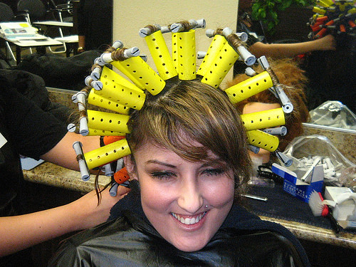 New 'Wrapping Technique' for perming hair | Flickr - Photo Sharing!