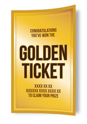 Golden Ticket give away by [rich]