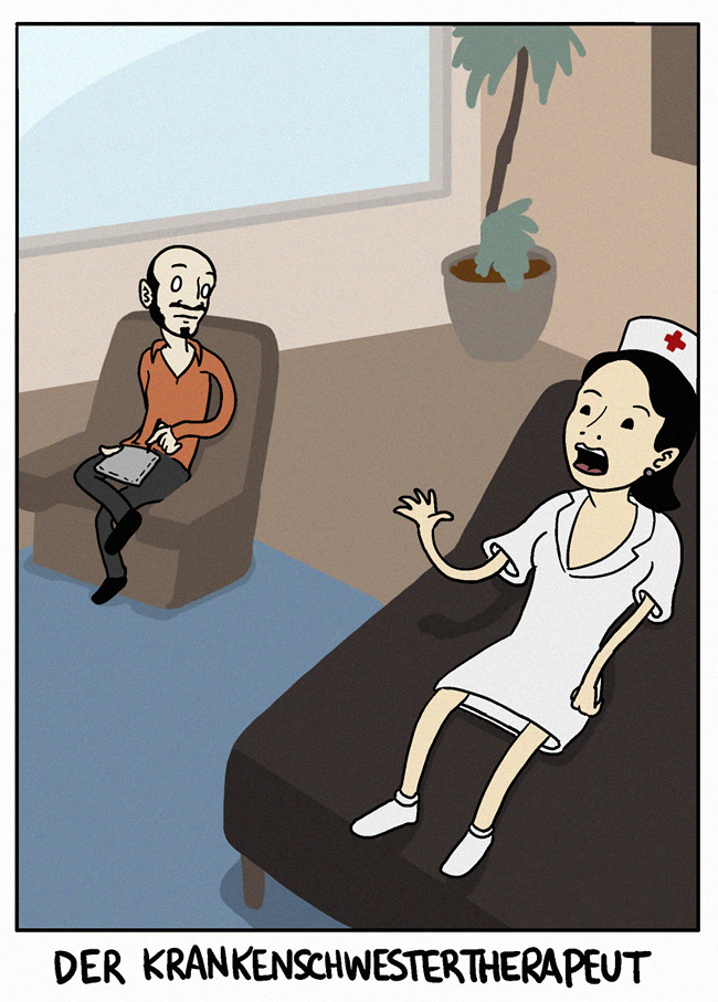 der Krankenschwestertherapeut