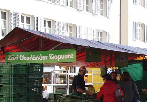 Züri Oberländer Biopuure, Wochenmarkt in der Altstadt von Winterthur