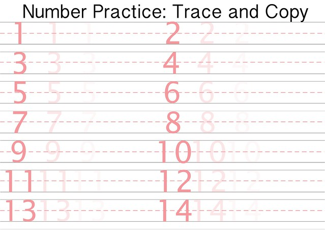 Free printable number writing practice sheet | Flickr - Photo Sharing!